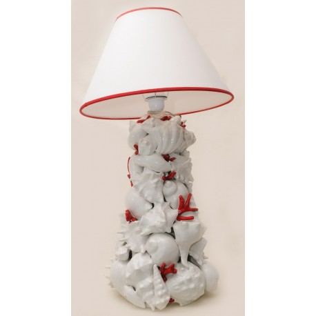 Lampada a colonna in ceramica