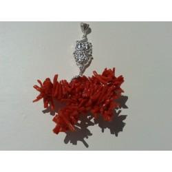 Ciondolo  corallo rosso