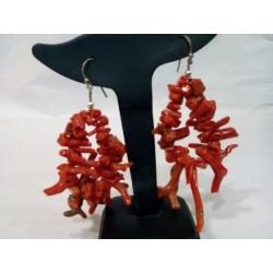 Orecchini  corallo rosso