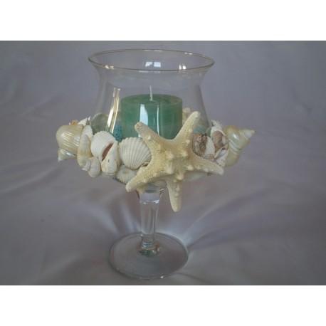 Calice Centrotavola con candela