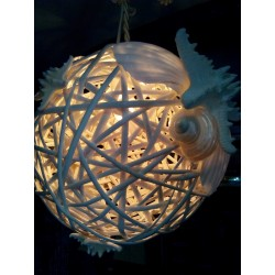 Lampada  in Vimini
