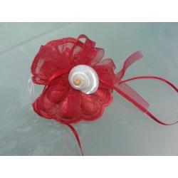Bomboniere marine: Portaconfetti rosso con turbo cinereus