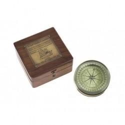 Vendita bussole: Bussola rotonda in ottone con Box