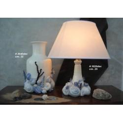 Vaso e Lampada decor. azzurra