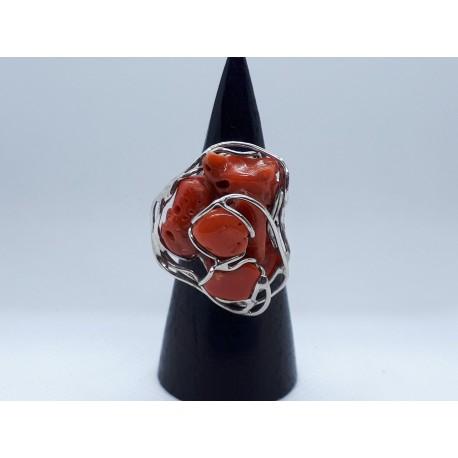 Anello  corallo rosso