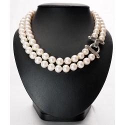 Collana doppio filo di Perle coltivate
