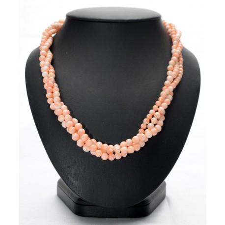 Collana  corallo rosa