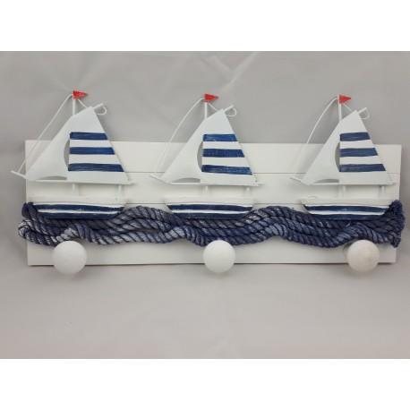 Appendiabiti da muro: barche a vela