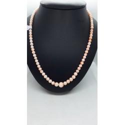 Gioielli corallo: collana corallo rosa